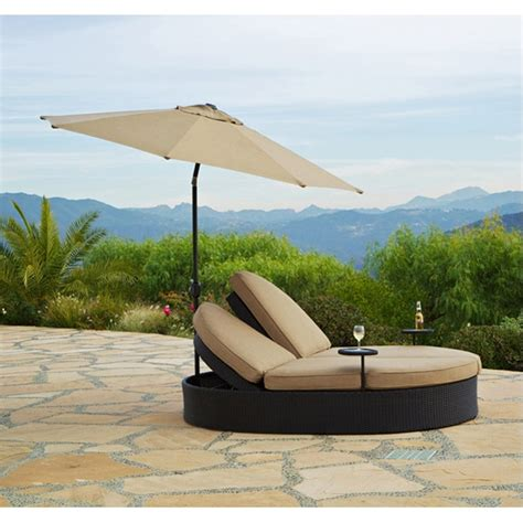 solara outdoor patio chaise lounge with umbrella by