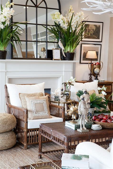 Decoration Styles - brown rattan bermuda armchair and coffee table