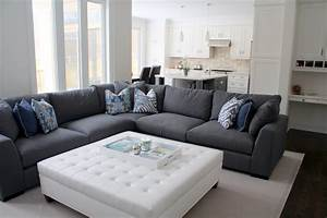 blue pillows grey sectional sofa contemporary toronto with With grey sectional sofa toronto