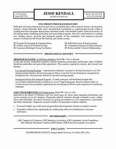 resume examples templates non profit cover letter sample With non profit program director resume sample