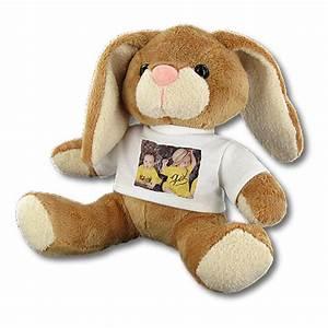 Lapin En Peluche : lapin en peluche personnalis avec photo time 39 s cadeaux personnalises ~ Teatrodelosmanantiales.com Idées de Décoration