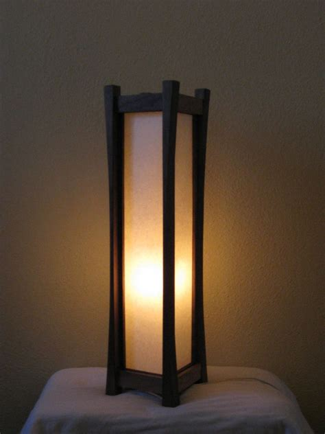 Personalized Lamps by Hand Crafted Black Walnut Floor Lamp With Tarditional