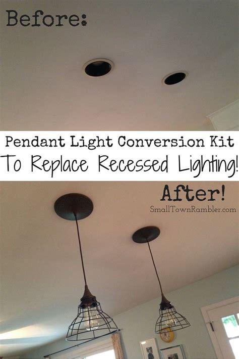 goodbye recessed lights pendant conversion kit