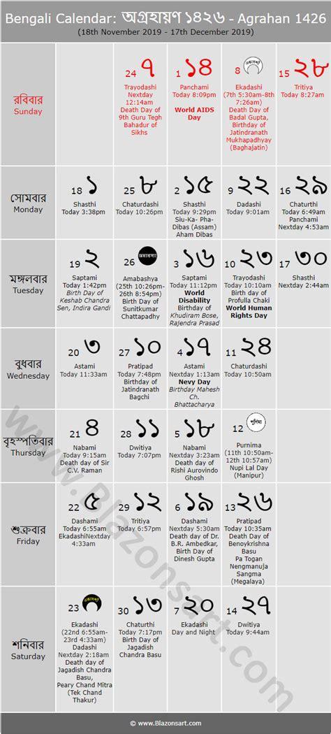 bengali calendar agrahan