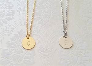 delicate initial necklace gold letter necklace silver With dainty letter necklace
