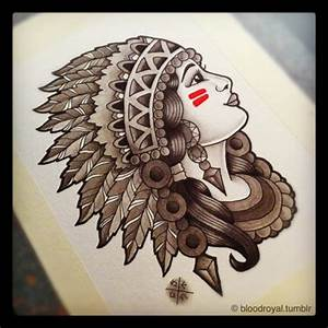 native american skull and headress   ... of traditional ...