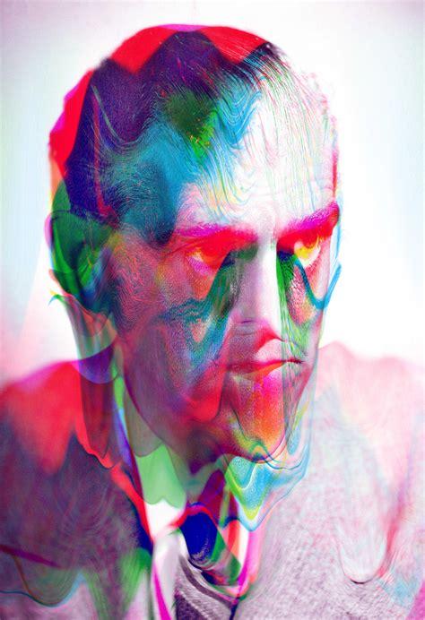 psychedelic digital portraits  tyler spangler art sheep