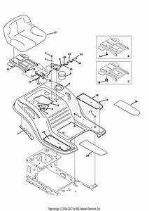 Mtd 13w2775s031 Lt4200   2013  Parts Diagram For Seat  U0026 Fender