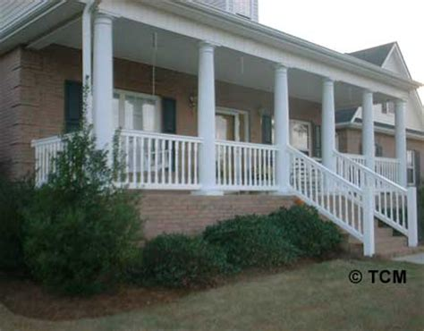 colonial baluster  porch  decking
