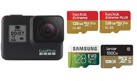 memory cards gopro hero black silver white