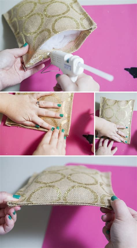 learn how to make a ring bearer pillow with glue only