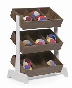 Rangement Jouet Enfant : rangement jouets toystore noyer oeuf nyc pour chambre enfant les enfants du design ~ Teatrodelosmanantiales.com Idées de Décoration