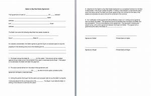 fine lease option contract template ideas resume ideas With real estate option agreement template