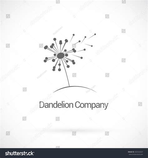 dandelion logo design vector template stock vector