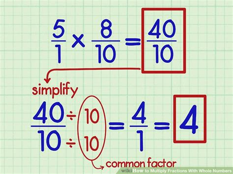 How To Multiply Fractions With Whole Numbers 9 Steps Wikihow