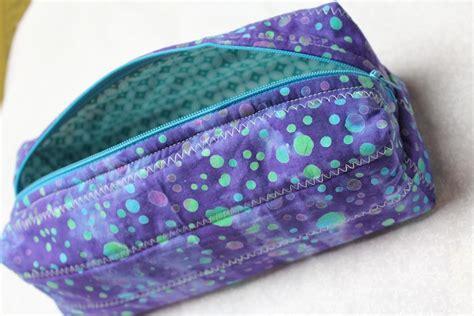 zippered box pouch tutorial crafty gemini