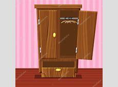 卡通空打开衣柜,客厅木制家具 — 图库矢量图像© BabySofjagmailcom #118083414