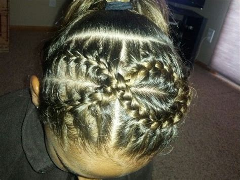 hairstyles  gymnastic meets ribbon hair style