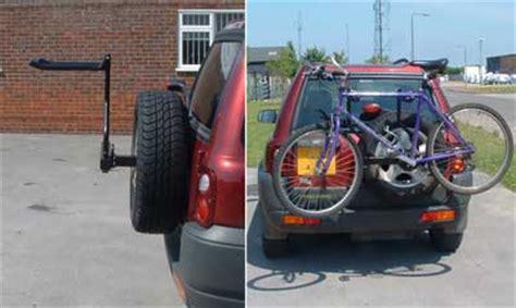spare wheel mounting  bike rack ff  land rover