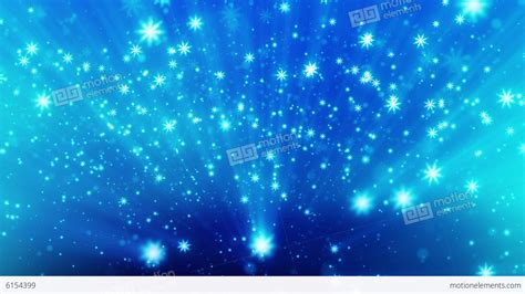 Snow Glitter Blue With Particles And Camera Blur Stock