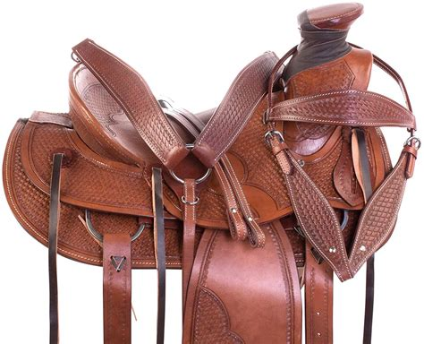 ranch horse western saddle roping saddles tooled pleasure amazon