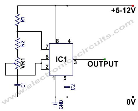 Variable Frequency Square Wave Generator Oscillator