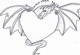 Dragon Heart Drawing - Trianna    2015 - Aug 27  2012  Dragons And Hearts Drawings