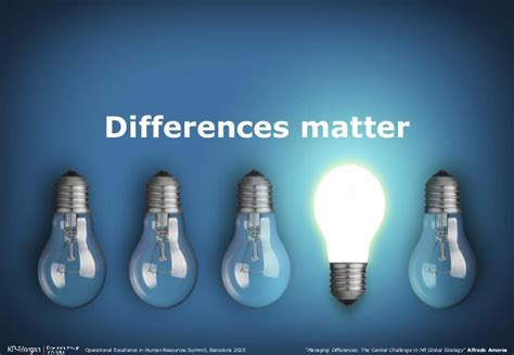 Managing Differences The Central Challenge In Hr Global