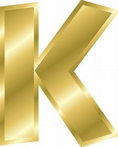 letter k capital letter alphabet abc gold public With gold letter k