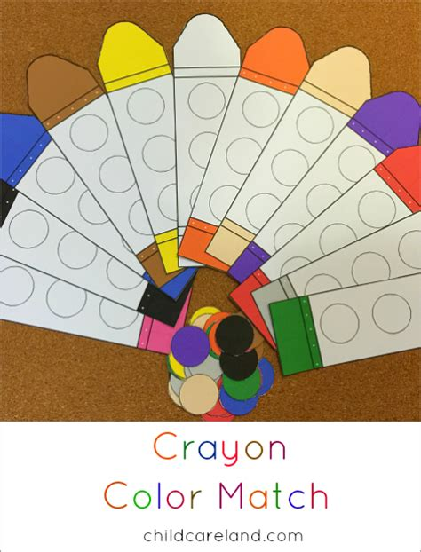 color matching activities for preschool crayon color match 941