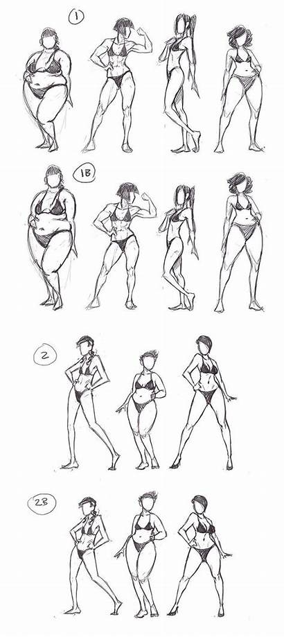 Drawing Female Poses Reference Anatomy Cartoon Sketches