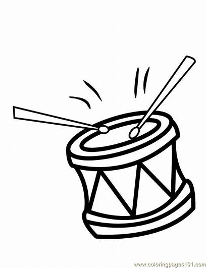 Coloring Pages Drum Drums Colouring Clipart Printable