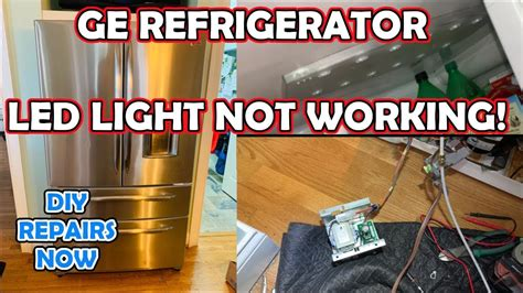fix ge refrigerator led lights  working model pgsspjxcss transformer replacement