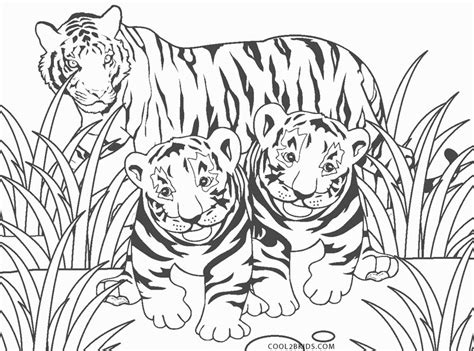 printable tiger coloring pages  kids coolbkids