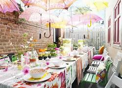Garden Party Decoration Ideas by Summer Garden Party With Umbrella Decorations Home Design And Interior