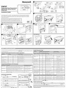 Honeywell Cm707 Installation Guide