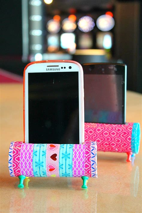 how to make a diy phone diy phone holder with toilet paper rolls easy craft