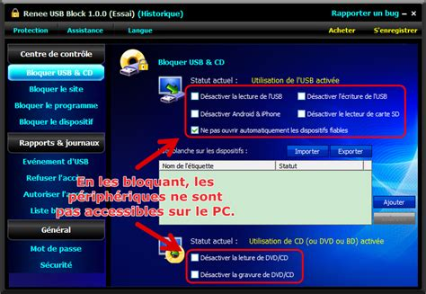 port connexion bureau à distance bloquer le port usb pour la protection des données personnelles renee usb block