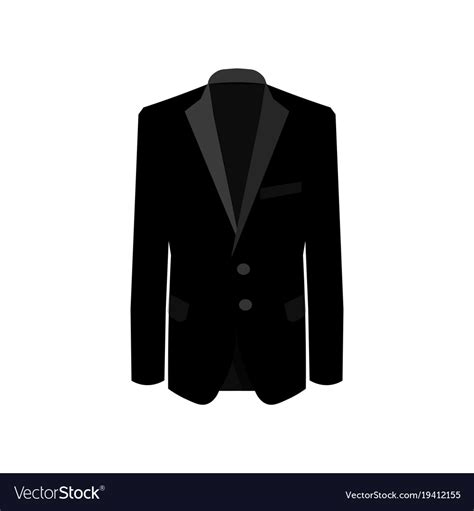black suit on white background business suit vector