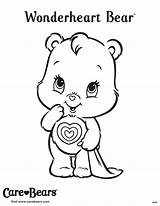 Coloring Bear Care Bears Wonderheart Sheet Country Characters Disney Valentine Sheets Halloween Wondering Cartoon sketch template