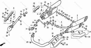 Honda Motorcycle 1997 Oem Parts Diagram For Muffler