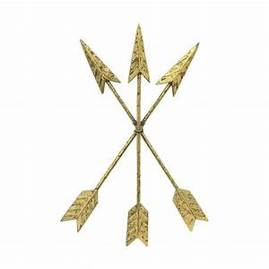 Home Decorators Collection Crossed Arrows Gold Metal Wall