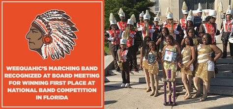 weequahics marching band recognized  board meeting