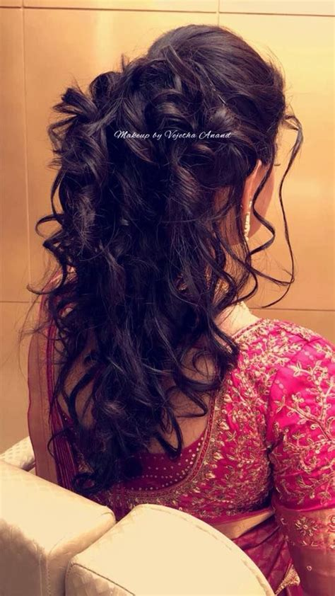 south indian bridal hairstyle  reception hairstyle