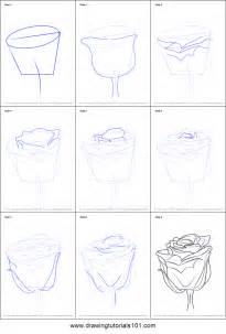 How to Draw a Rose Step by Step with Stem