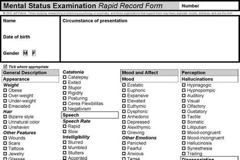 mental status template mental status template free premium templates forms sles for jpeg png
