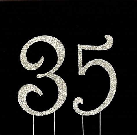 large rhinestone number 21 anniversary large 35th birthday wedding anniversary number cake