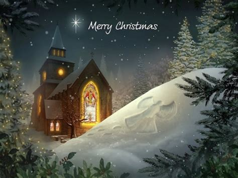 merry christmas winter nature background wallpapers