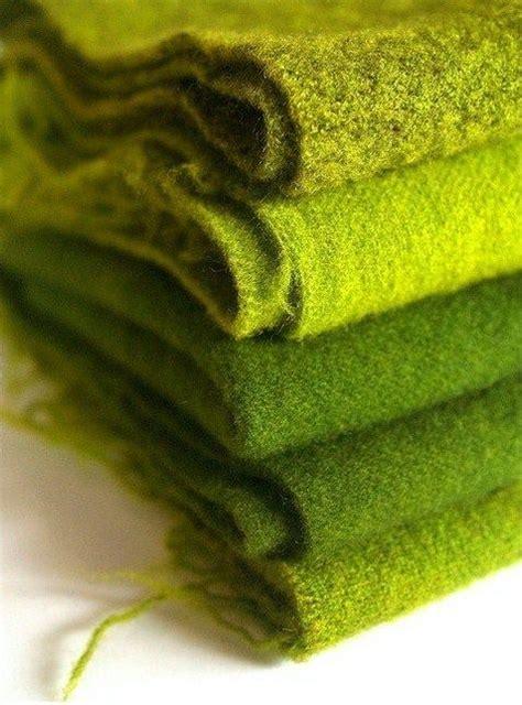 Green Wool Throw Blanket