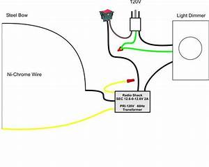 pictoral guide to a home made hot wire foam cutter With cable wiring guide